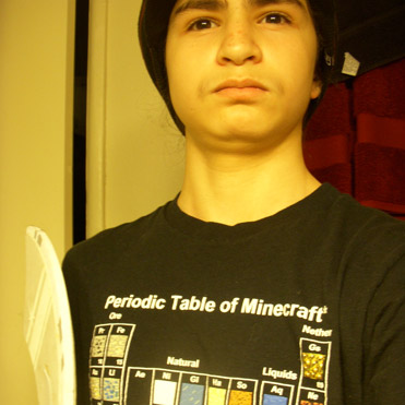 Jinx minecraft periodic table youth tee submit yours urtaz Image collections